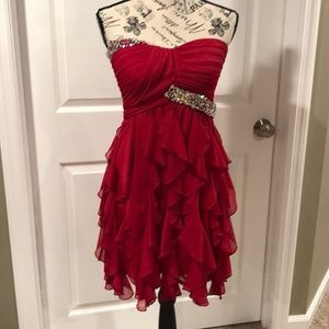 Red party dress size 7